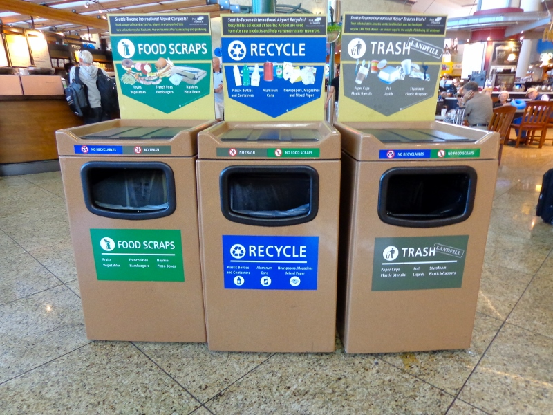 The World Through A Trash Receptacle Airports And Train