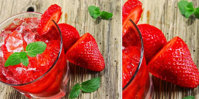 Resep Minuman Strawberry Squash Mint