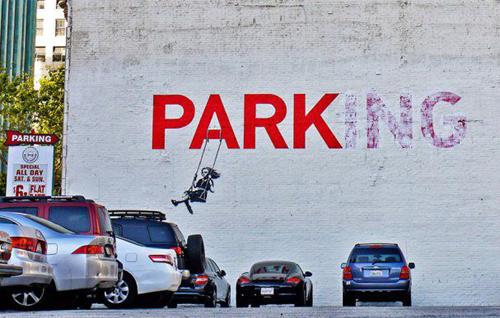 exemplos de arte urbana - Street Art - Parking