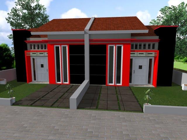 Tipe 36 Desain Minimalis Merah Hitam Desain Rumah Minimalis