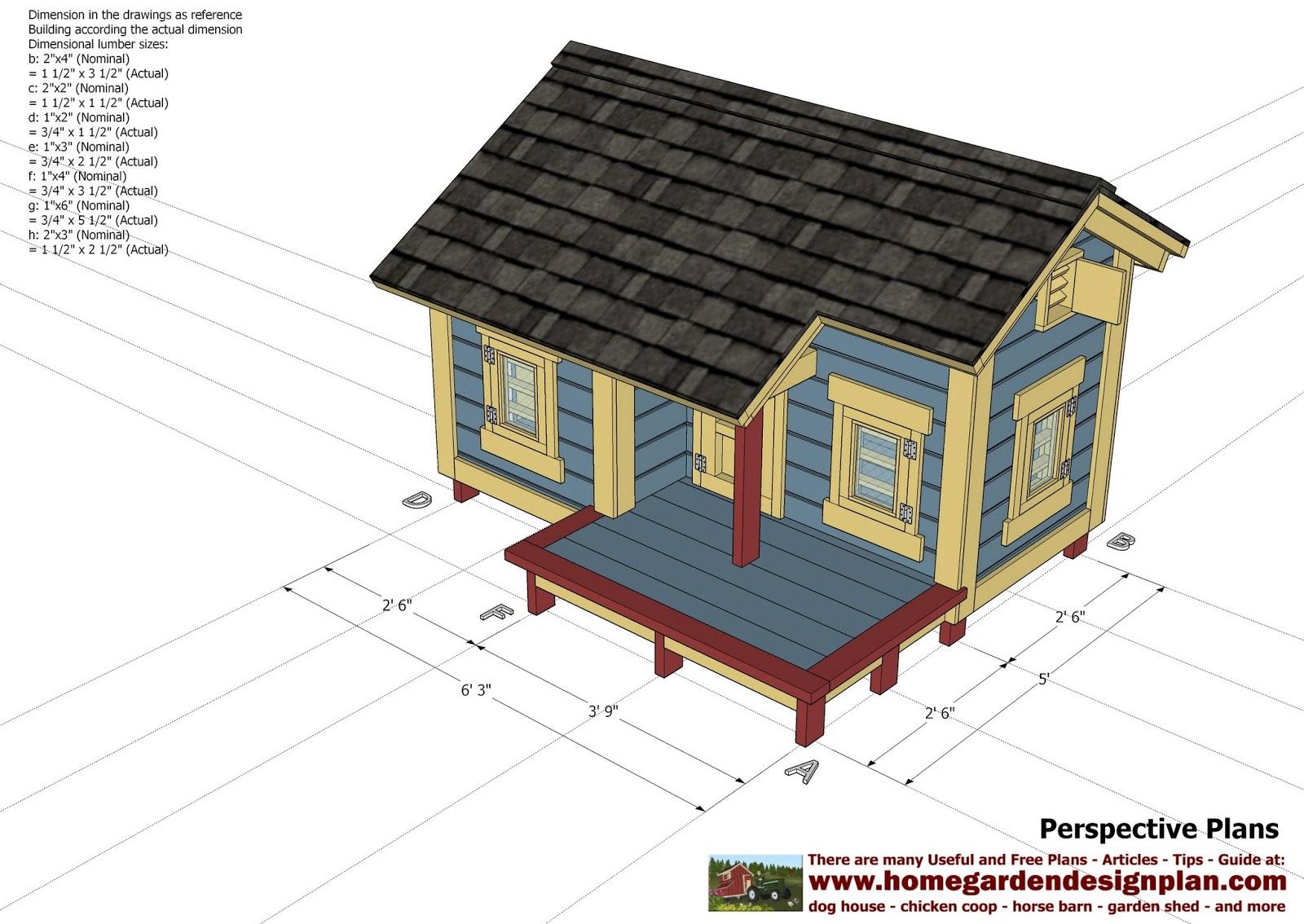Home garden plans dh303 dog house plans dog house for Dog kennel building plans