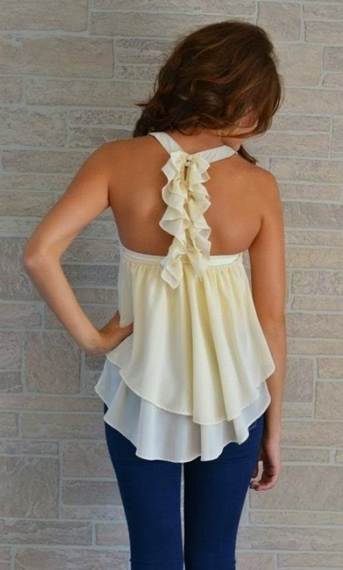 Love this top especially the back