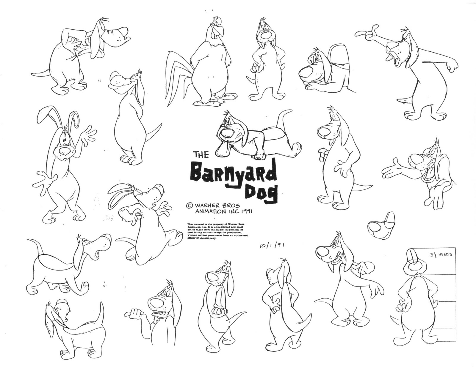 Cartoon Character Design Sheet : Cartoon concept design warner brothers model sheets