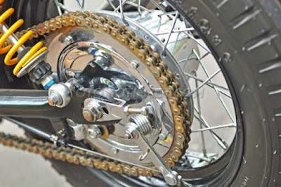 Modifkasi Yamaha Scorpio Z, Cafe Racer Montok