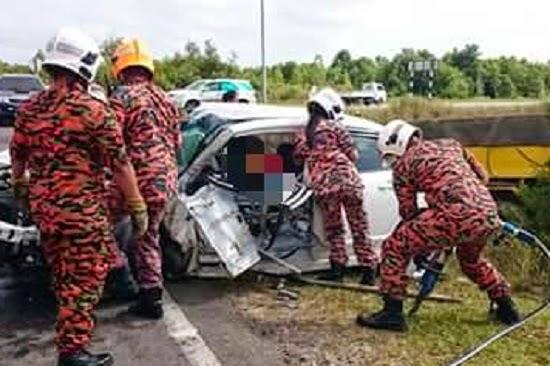 Warga Emas Maut Dalam Kemalangan Ngeri Di Kuching