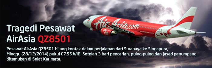 Kronologi Kecelakaan Pesawat Malaysia AirAsia QZ8501