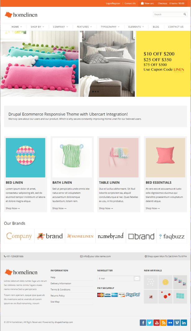 Drupal Ecommerce Responsive Theme with Ubercart