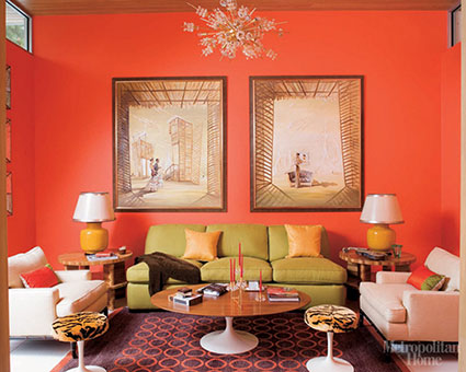 Daisy rooms july 2012 for Orange and yellow living room ideas
