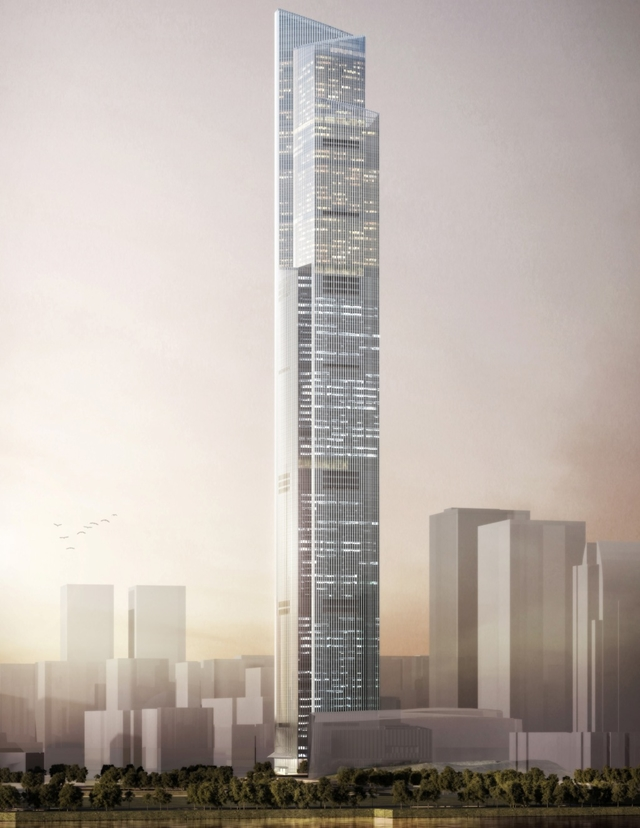 Rendering of the The Chow Tai Fook tower