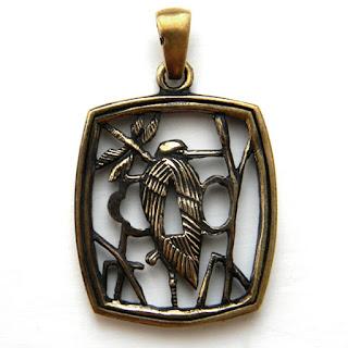 купить цубу кулон японские украшения япония латунь бронза