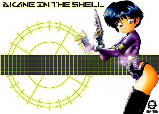Akane in the Shell por craneo242