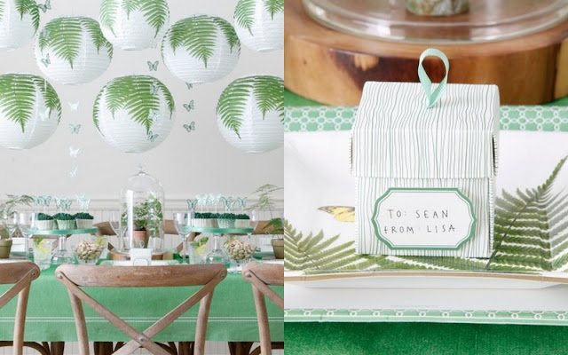 Martha Celebrations for JCPenny fern table