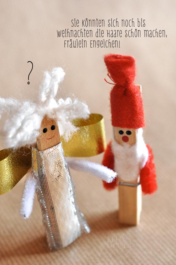 Basteln Mit Holz Wäscheklammern Weihnachten ~ Kelly´s Corner Adventstürchen N°8 von 8  ★Les Tissus Colbert