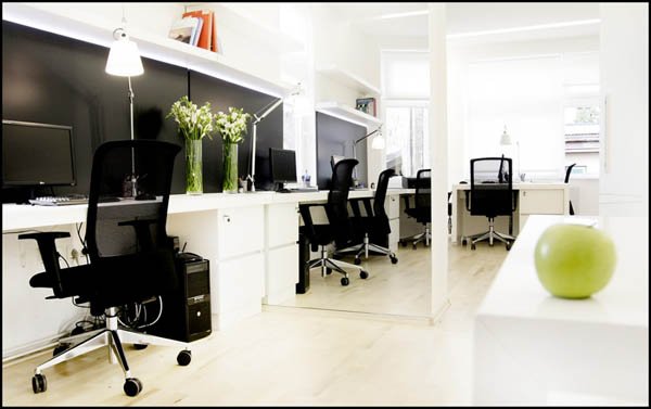 Black And White Small Private Office By Firma D O O