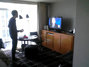 And this is some more of our hotel room in Boston, the t.v. was really nice, . (hotel room in boston)