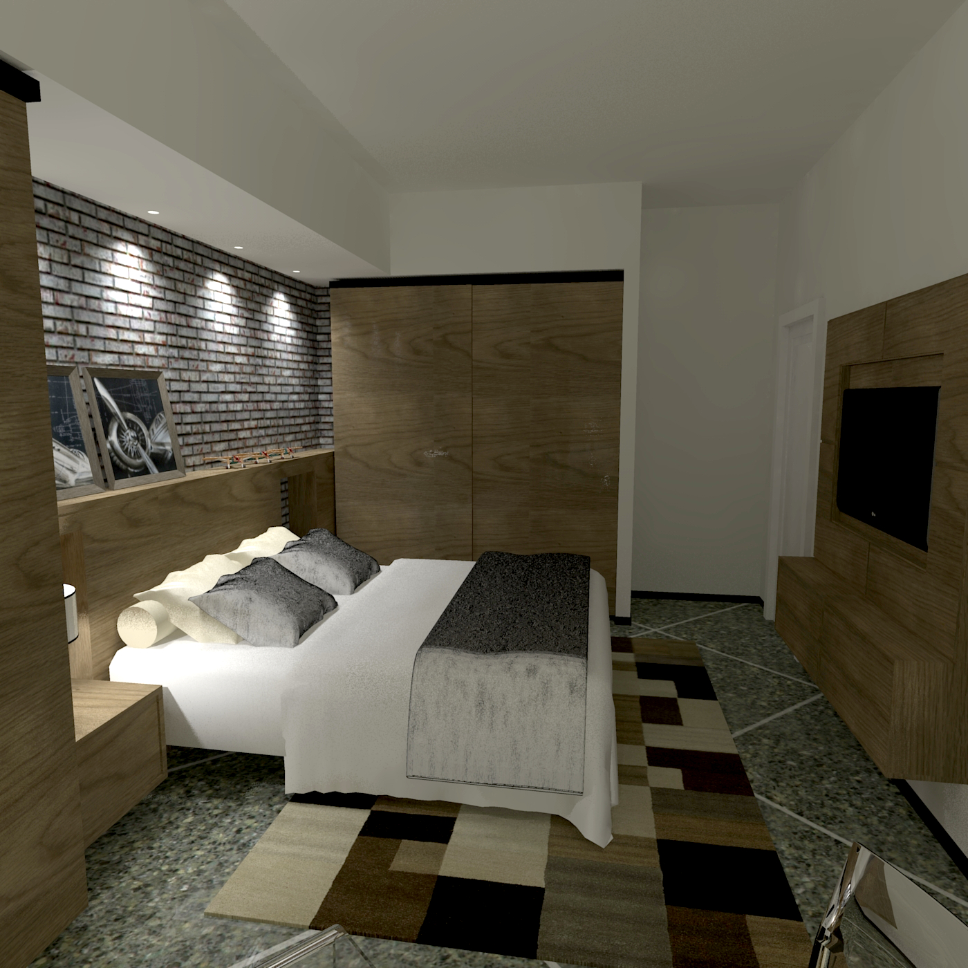 Camera da letto matrimoniale - ATP STUDIO