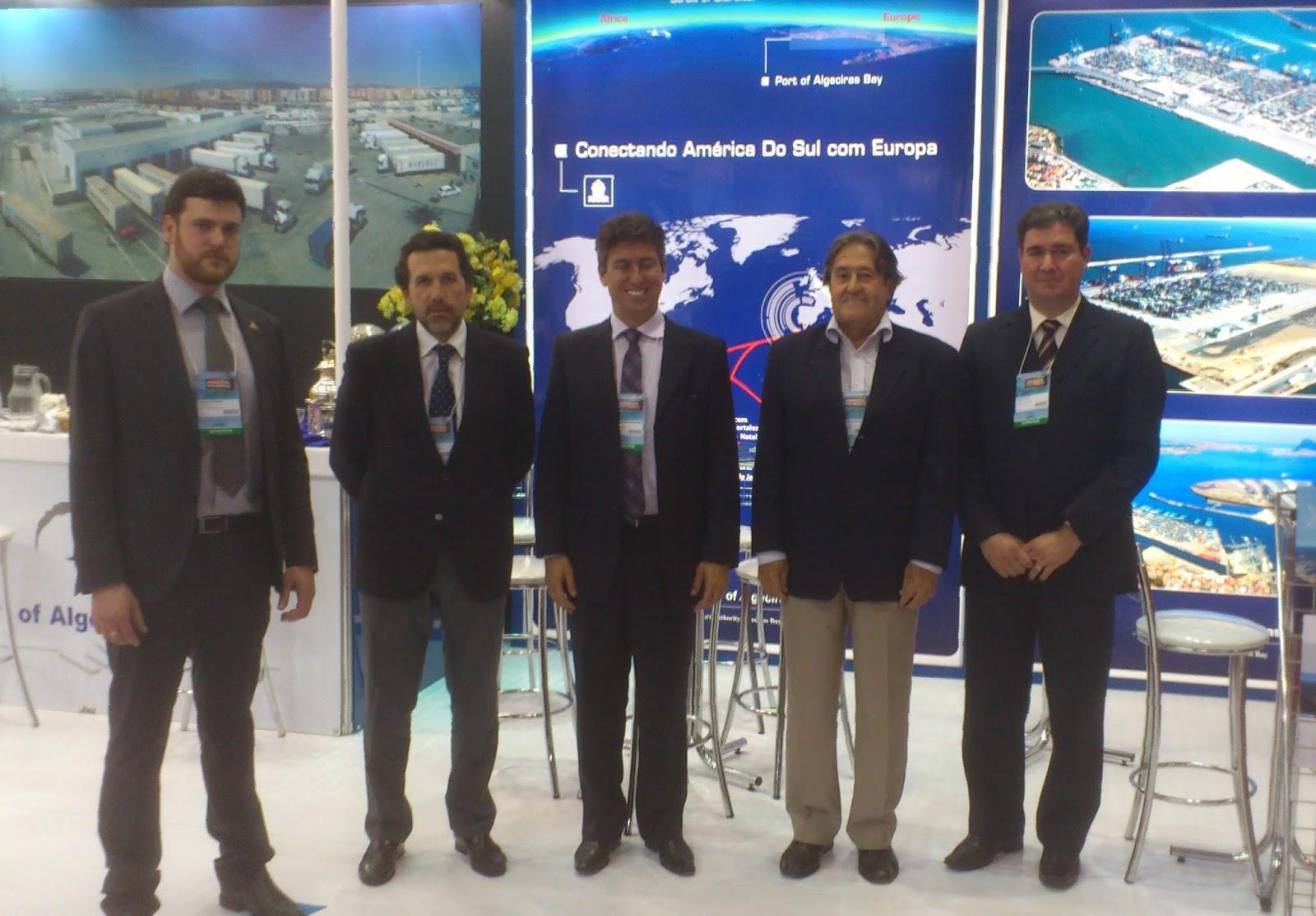 Intermodal. Responsables de la APBA, Cosco y el Puerto de Santos