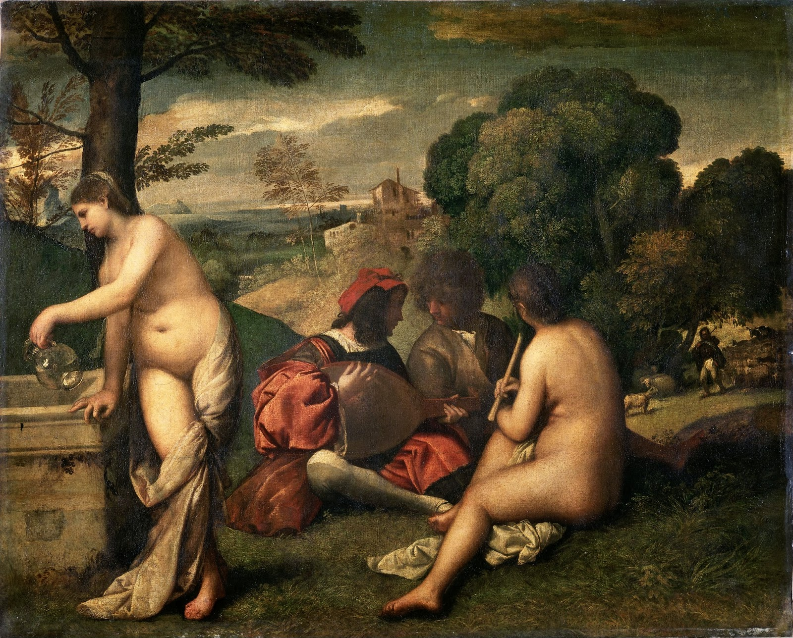 "Picture of ""Pastoral Concert"" by Titian, 1509"