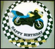 motorbike birthday cake
