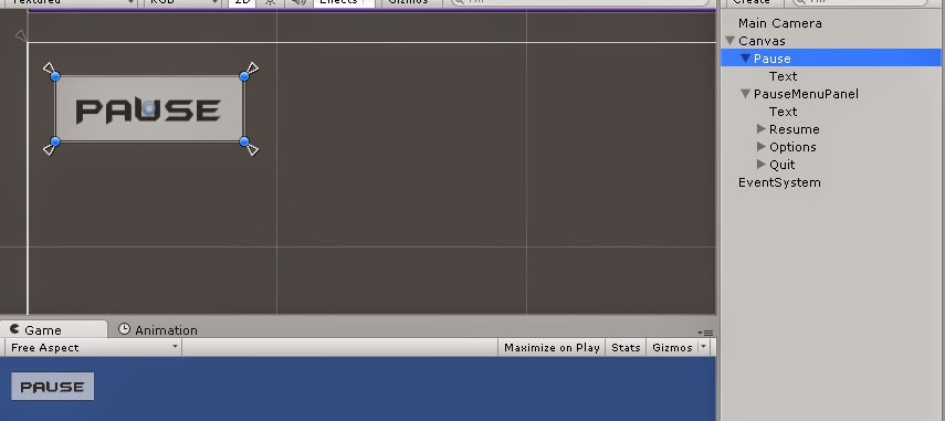 Pause Menu Button - Unity 4.6 GUI
