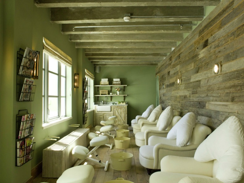 Soho Beach House pedicure stations