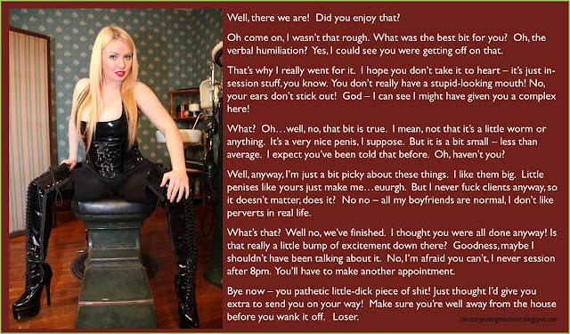 Disciplinary verbals femdom