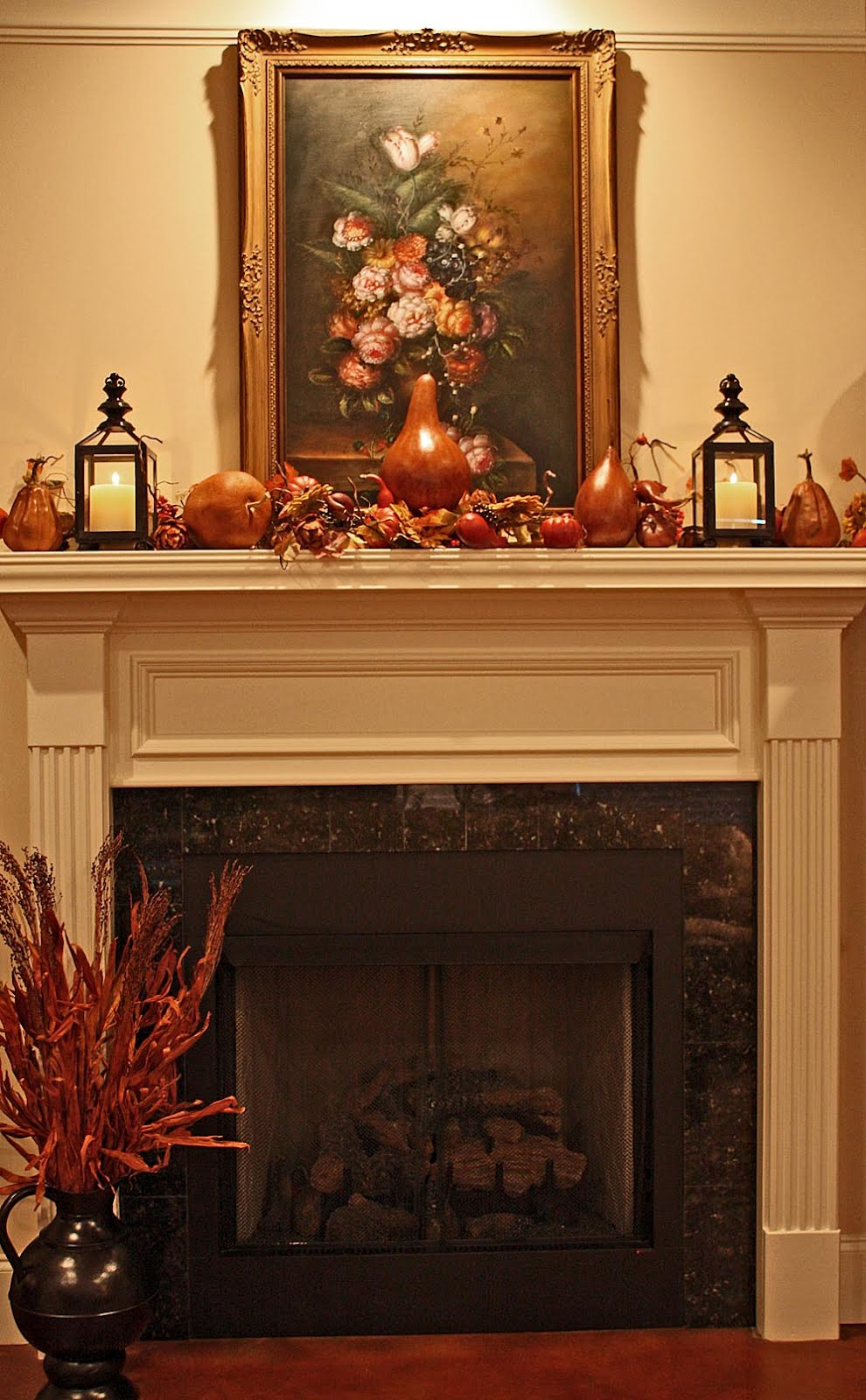 Late Fall Mantel Decor A Pop Of Pretty Blog Canadian How