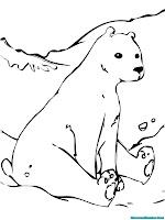 Lembar Mewarnai Gambar Beruang Gratis