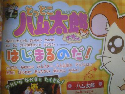 Tottoko Hamtaro Dechu anime 2011