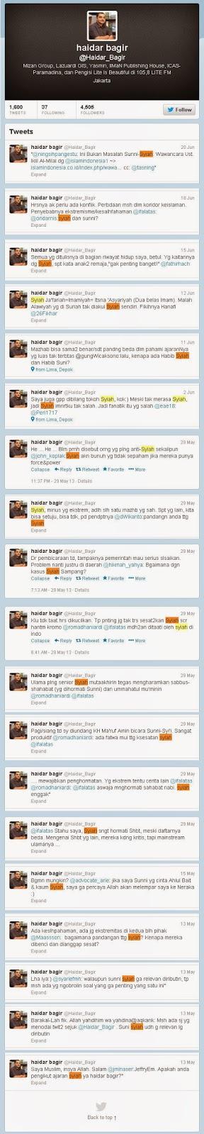 Haidar Bagir Tokoh Syiah Indonesia