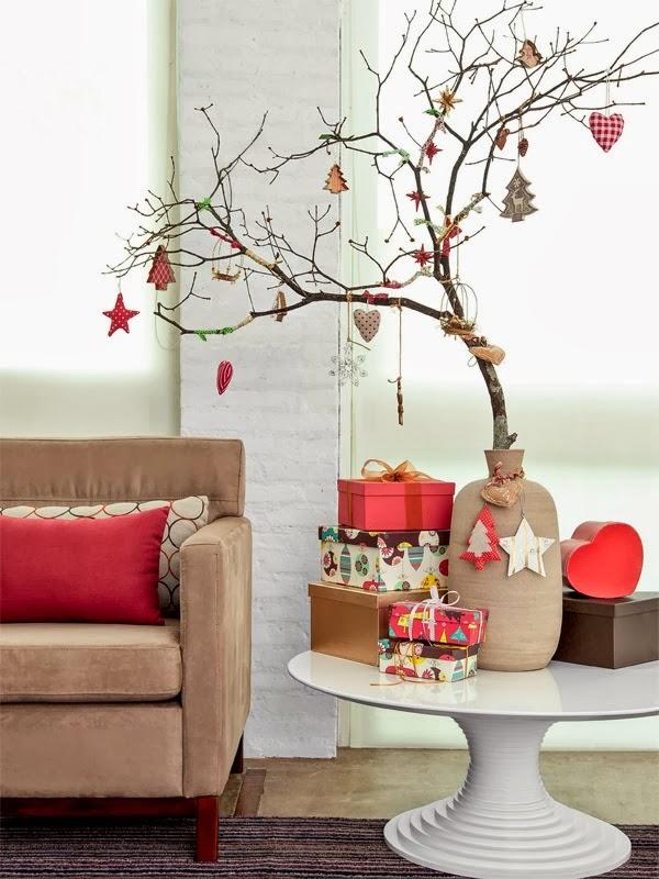 decoracao em arvore de natal : decoracao em arvore de natal:Eita, Sou Dona de Casa: Decoração de Natal em pequenos espaços