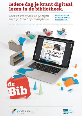 Elke dag een verse digitale krant in de bib.