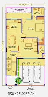 Golf Country, Yamuna Expressway :: Floor Plans,Golf Villa (150 sq. yd.):-Ground Floor Plan Plot Area: 995.35 Sq. Ft.