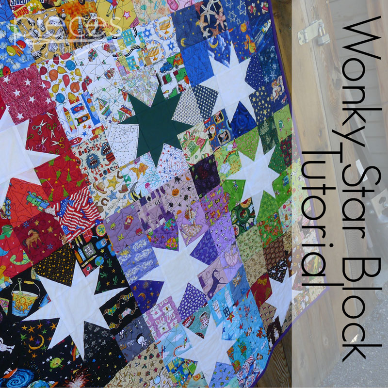 Pieces By Polly Wonky Star Block Tutorial