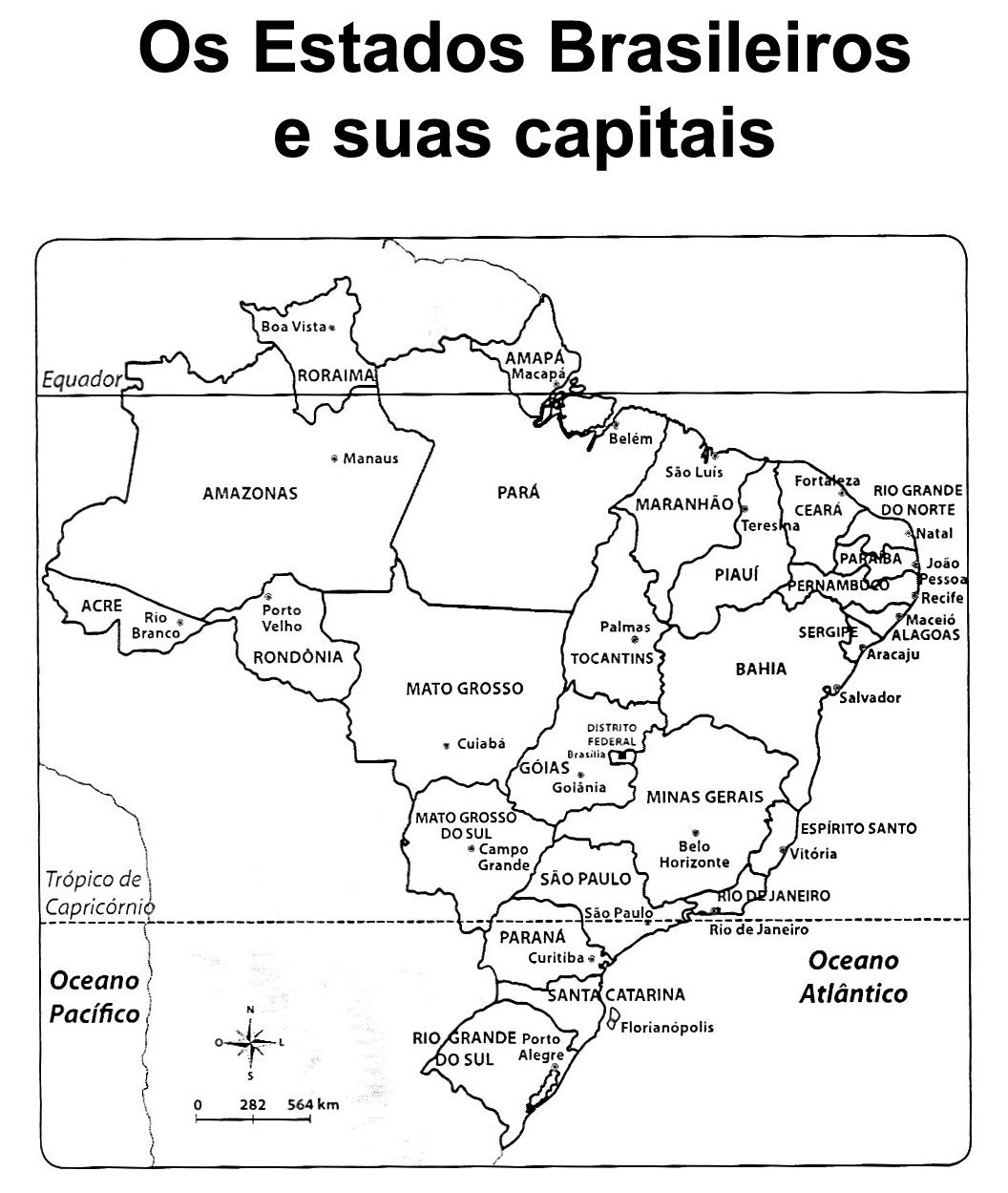 Amado Pedagógiccos: Mapa do Brasil: estados e capitais BK19