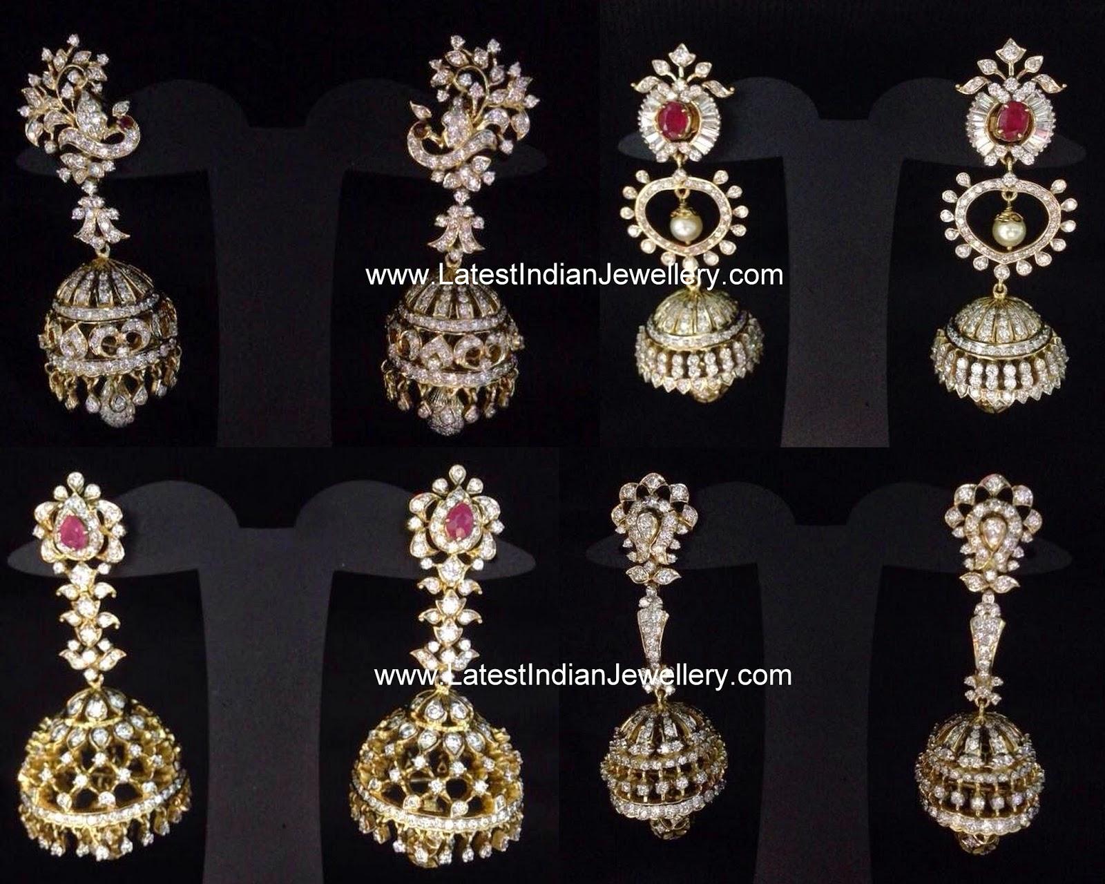 Latest Diamond Jhumkas Collection