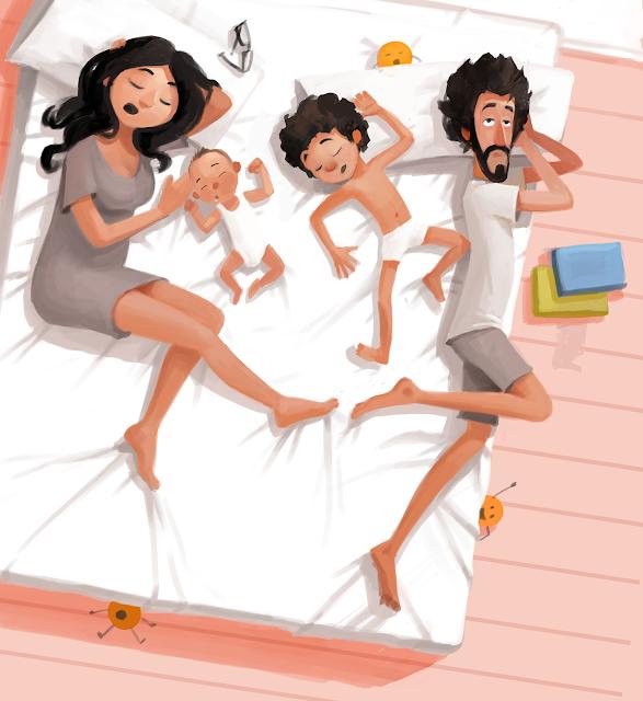 ilustración colecho naranjasyzapatos