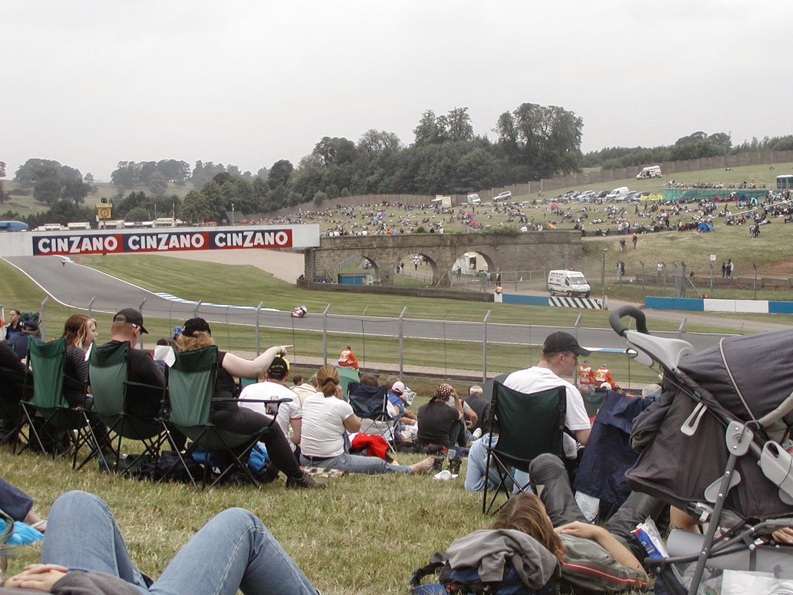 enlazadas del circuito de Donington Park