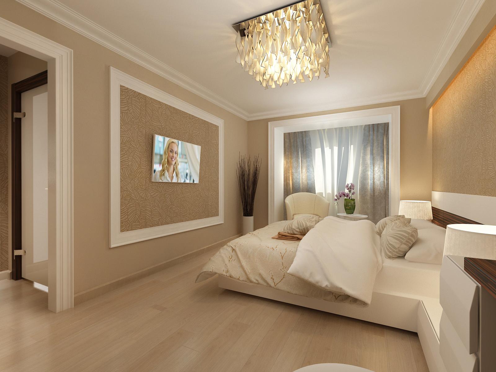 Дизайн спальни в теплых тонах фото