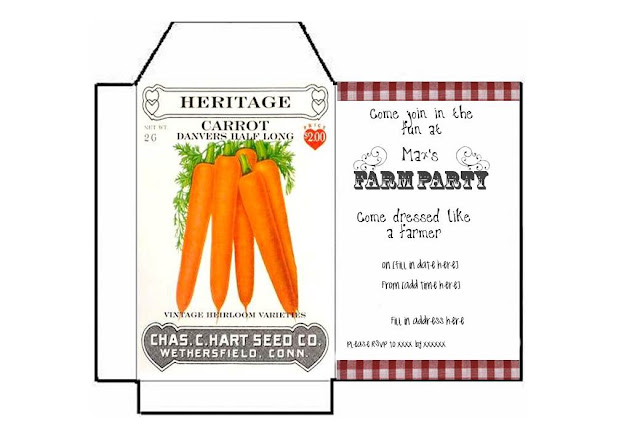 Farm party printables