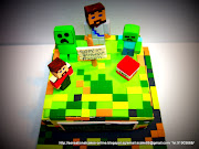 MINECRAFT CAKE SINGAPORE / 3D MINECRAFT ANDROID / IPAD / APPLE GAMES CAKE .