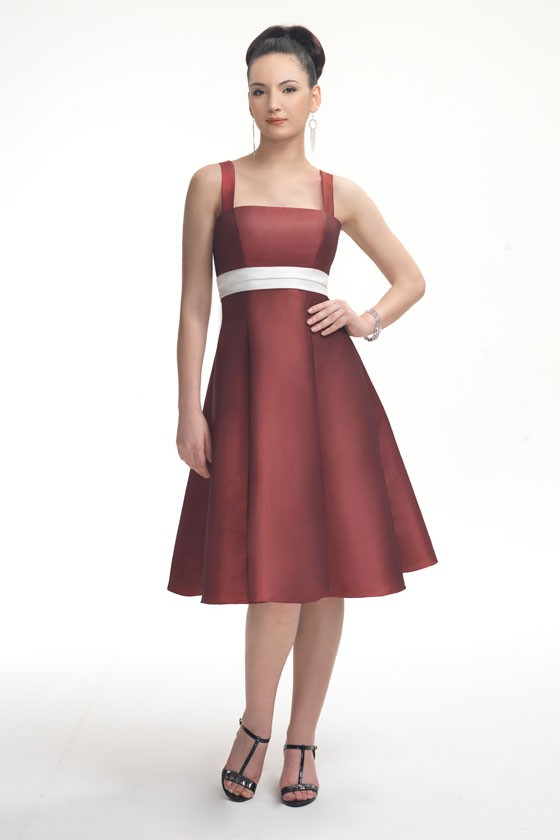 Red And White Short Bridesmaid Dresses 103