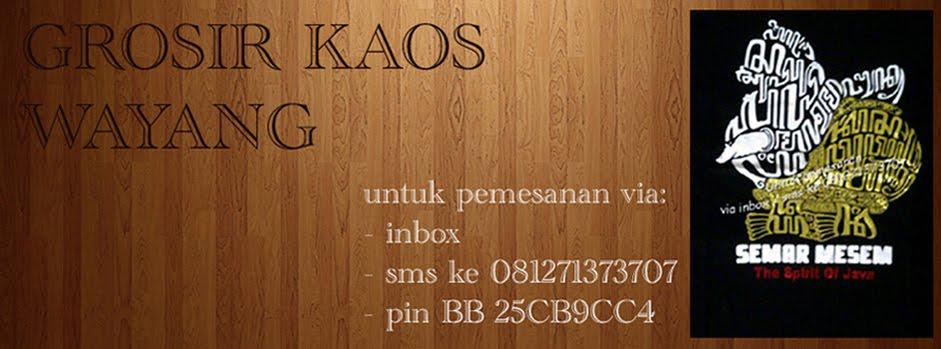 Grosir Kaos Wayang