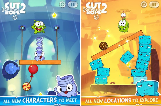 Cut the Rope 2 received new exciting levels and awesome elements are added to the game for iOS iPhone, iPad and Android