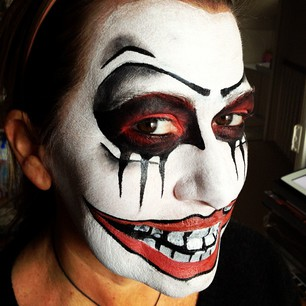 Vibrant Body Painting Face Off Hallowen Costume
