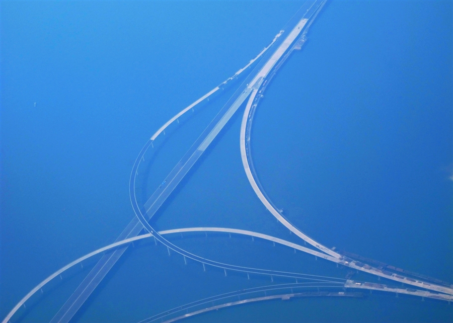 Huangdao it is the world s longest cross sea bridge at over 26 miles