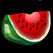 Desenho de melancia colorida