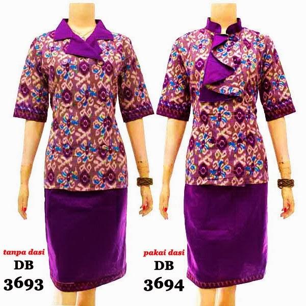 Dress batik setelan rok dan blouse