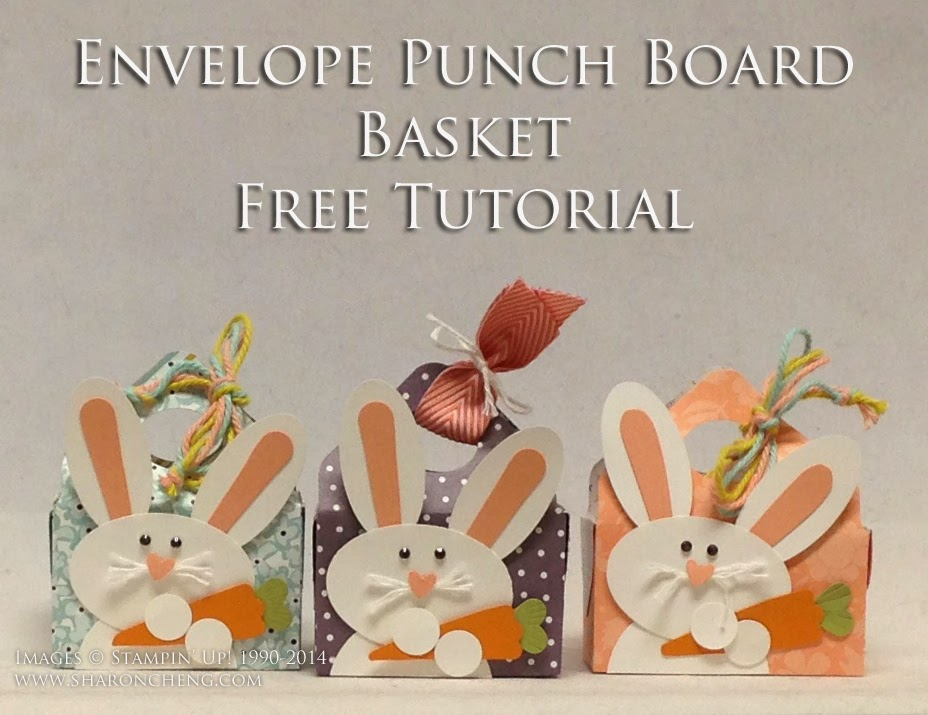SHARING CREATIVITY and COMPANY: Punch Art Easter Bunny Basket 2