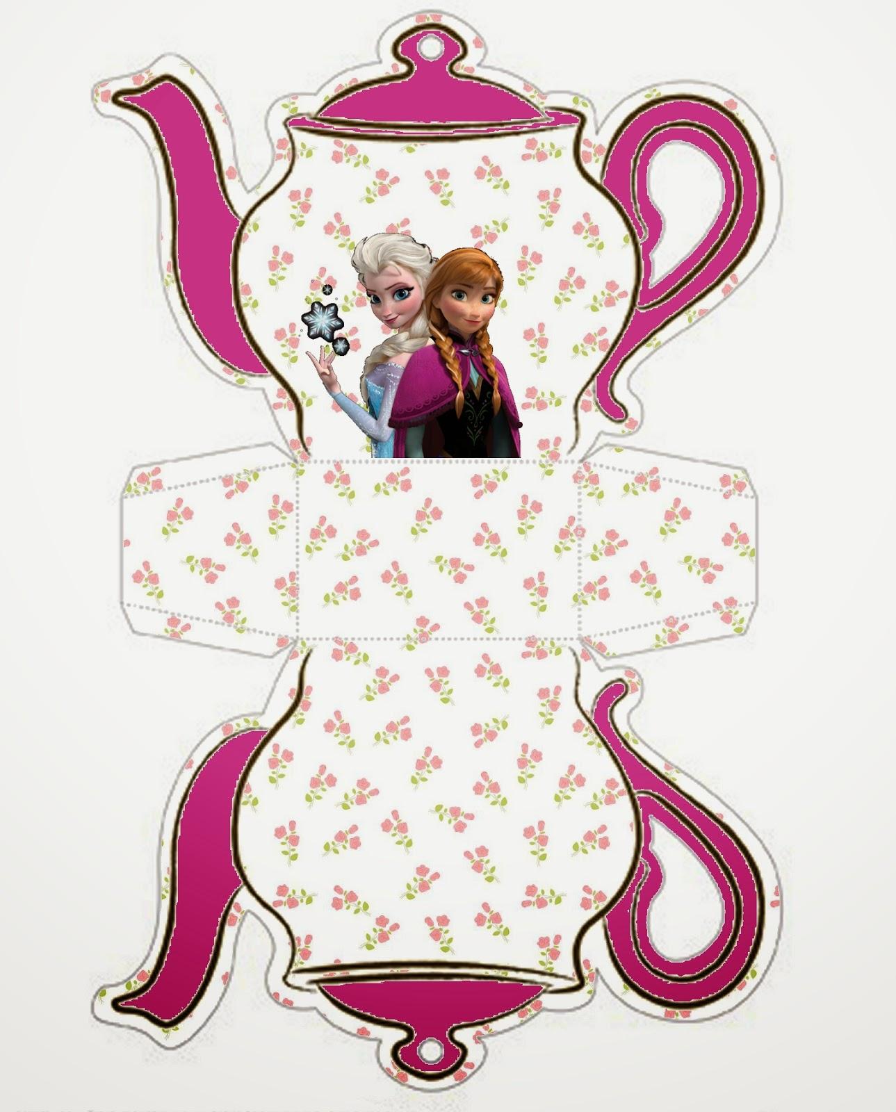 Frozen: Caja Tetera Para Imprimir Gratis.